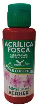 TINTA ACRILICA FOSCA TERRA QUEIMAD NAT. COLORS 60 ML ACRILEX