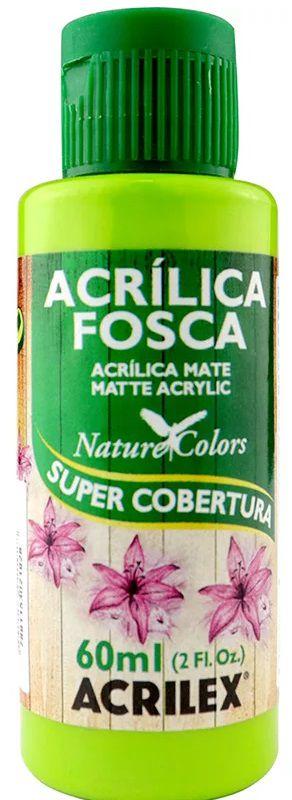 TINTA ACRILICA FOSCA VERDE MAÇÃ NAT. COLORS 60 ML ACRILEX