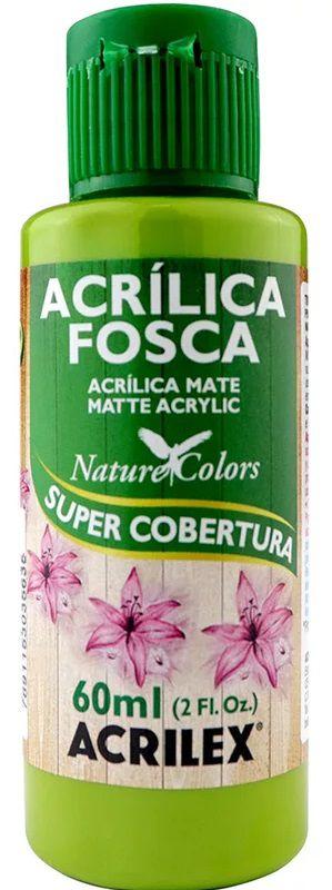 TINTA ACRILICA FOSCA VERDE PISTACH NAT. COLORS 60 ML ACRILEX