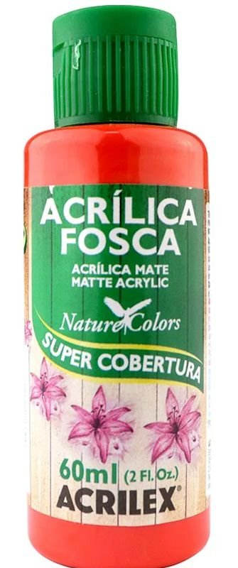 TINTA ACRILICA FOSCA VERMELHO VIVO NAT. COLORS 60 ML ACRILEX