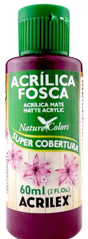 TINTA ACRILICA FOSCA VINHO NAT. COLORS 60 ML ACRILEX