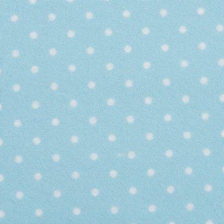 Feltro Color Baby Poá Santa Fé Cor 513537 Azul - Medidas 0,40x1,40