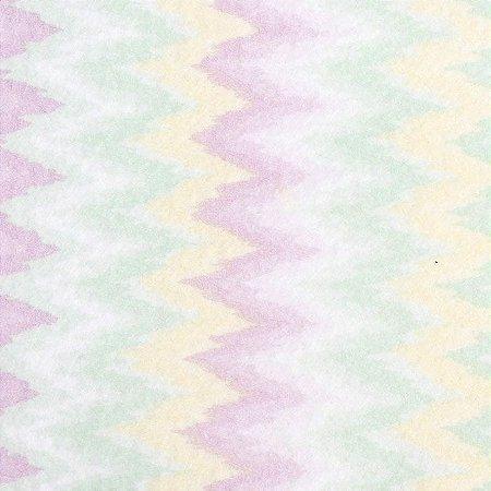 Feltro Color Baby Chevron santa fé - cor 5051003 Amarelo e Verde - Medidas 0,40x1,40
