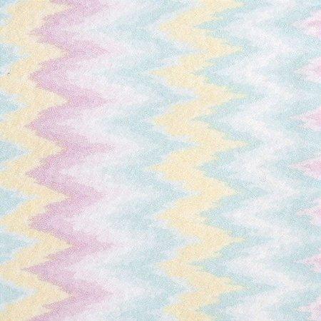 Feltro Color Baby Chevron santa fé - cor 5051037 Amarelo e Azul - Medidas 0,40x1,40