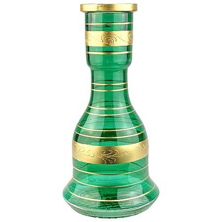 Vaso ZH Sino Stripes Gold 30cm - Verde