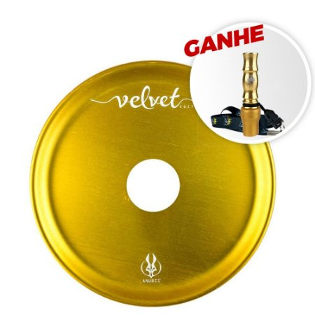 Prato Anubis 18cm Velvet Dourado + Brinde Piteira Higiênica PK