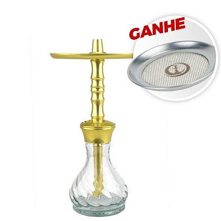 Narguile Mahalla Hookah Hype Mini Dourado + Brinde Tela Mahalla Safe Screen