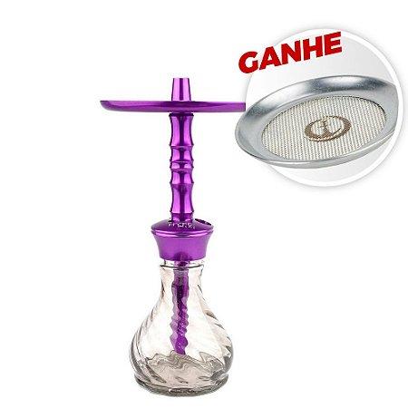 Narguile Mahalla Hookah Hype Mini Roxo + Brinde Tela Mahalla Safe Screen