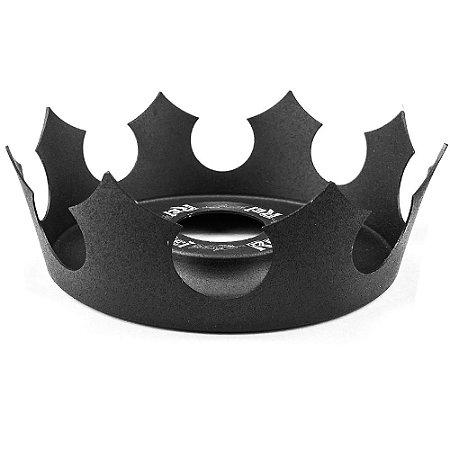 Prato Coroa Rei Médio 19cm - Preto