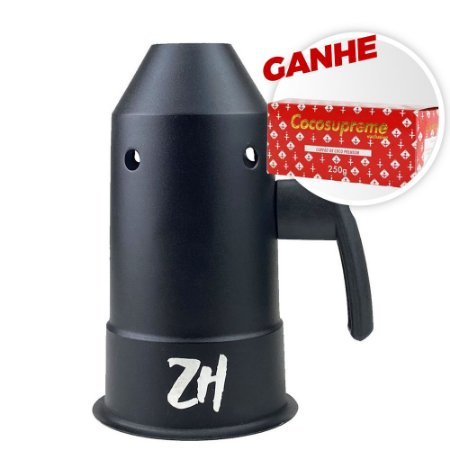 Abafador Zh Preto Fosco + Brinde Carvão Coco Supreme 250g