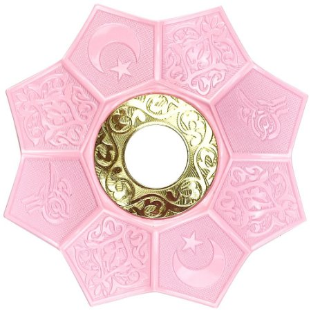 Prato EBS Hookah Zamac Lotus M 22cm - Rosa Claro/Dourado
