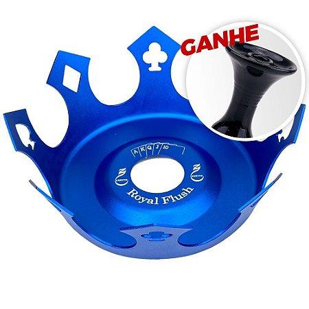 Prato Zenith Coroa Royal Flush Azul + Brinde Rosh Black Hookah