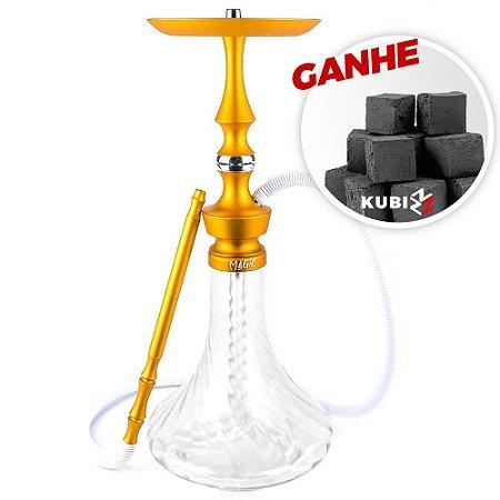 Narguile Magic Mezzo Laranja/Twist + Brinde Carvão Kubiz