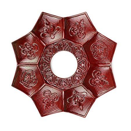 Prato EBS Hookah New Lotus Mini 16cm - Vermelho