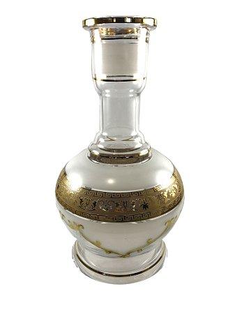 """Vaso Star Hookah Jumbo """"Details Clear/White"""" 30cm"""
