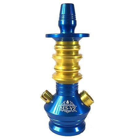 Stem Narguile Gods Of Hookah BES V2 Azul/Dourado