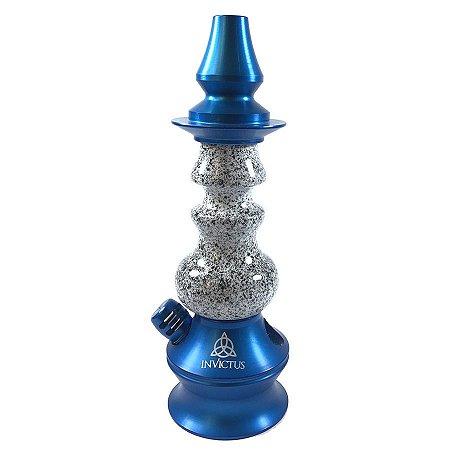 Stem Narguile Invictus Star - Azul/Granito Branco