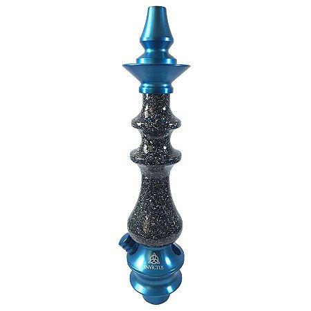 Stem Narguile Invictus Premium - Azul/Granito Preto