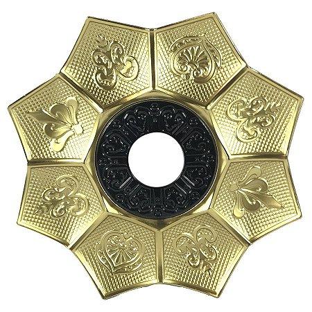 Prato EBS Hookah New Lotus P 18cm - Dourado/Preto