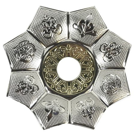Prato EBS Hookah New Lotus P 18cm - Prata/Dourado