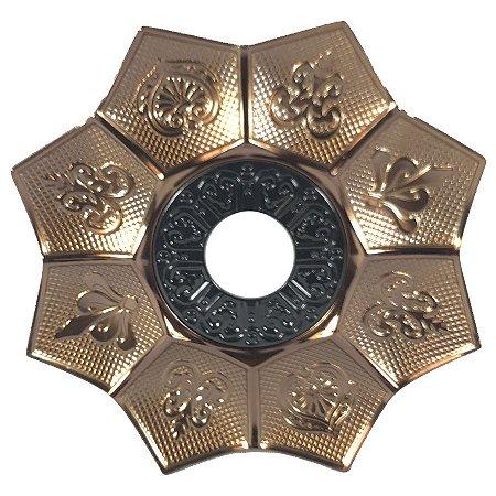 Prato EBS Hookah New Lotus M 22cm - Bronze/Preto