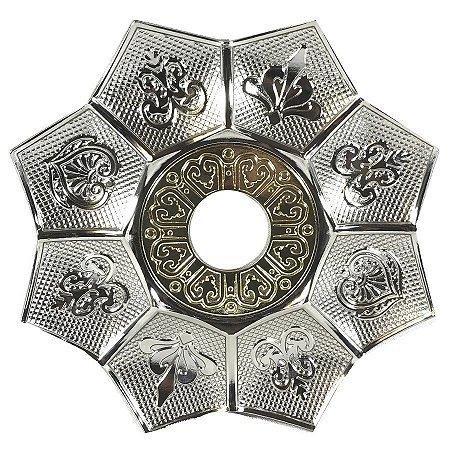 Prato EBS Hookah New Lotus M 22cm - Prata/Dourado