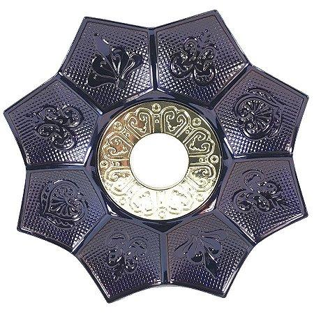 Prato EBS Hookah New Lotus G 27cm - Camaleão/Dourado