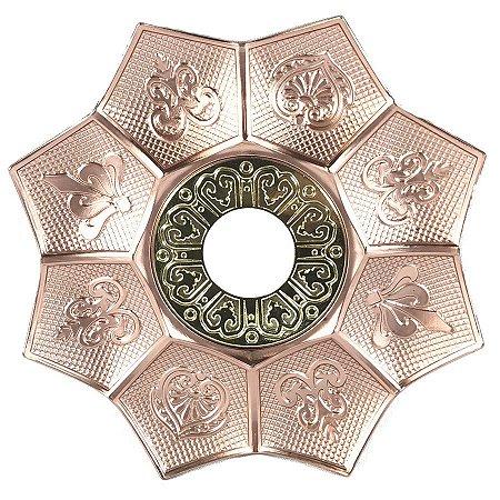 Prato EBS Hookah New Lotus G 27cm - Rosé/Dourado
