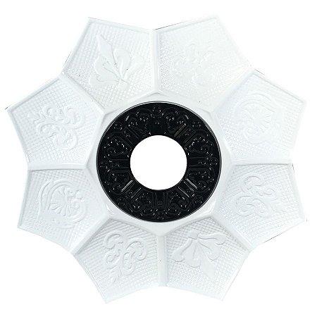 Prato EBS Hookah New Lotus G 27cm - Branco/Preto