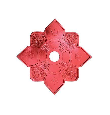 Prato Hookah King Imperial Mini - Vermelho