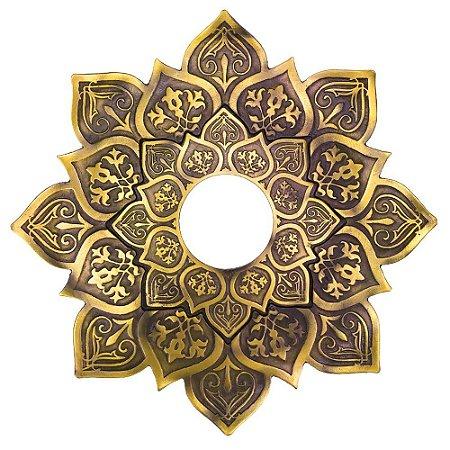 Prato JN Hookah Zeus Mini - Dourado Velho