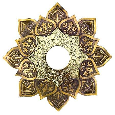 Prato JN Hookah Athenas Médio - Dourado Velho/ Dourado