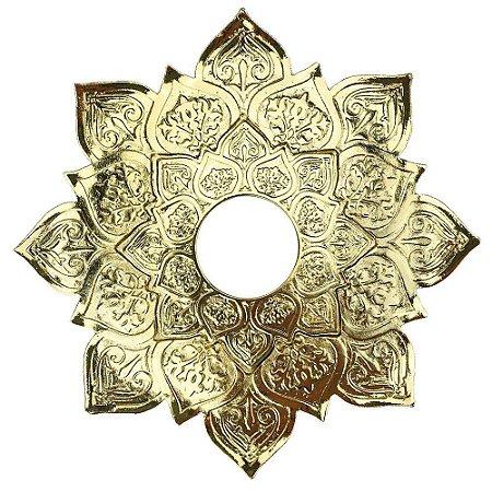 Prato JN Hookah Athenas Médio - Dourado/Dourado