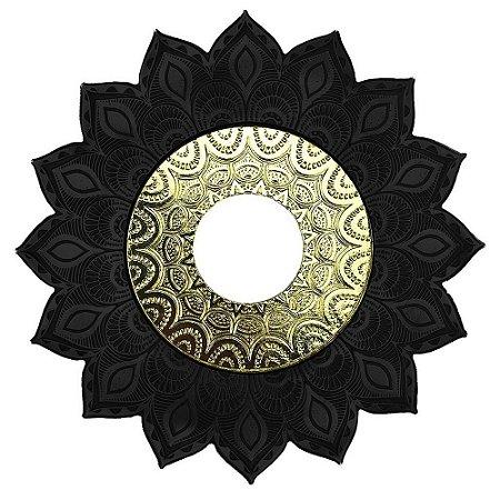 Prato JN Hookah Persia Médio - Preto/Dourado
