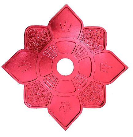 Prato Hookah King Imperial - Vermelho