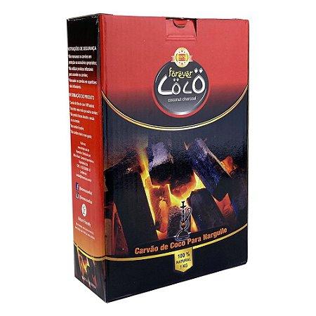 Carvão Forever Coco Grosso 1Kg