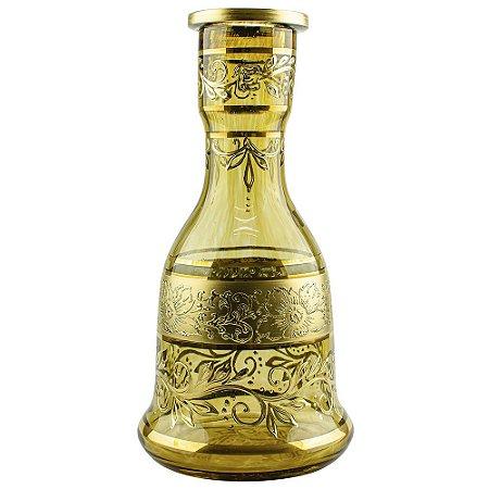Vaso Bohemian Egermann Sino New Tribal 30cm - Old Gold