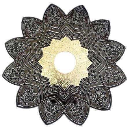 Prato EBS Hookah One M 22cm - Chumbo/Dourado