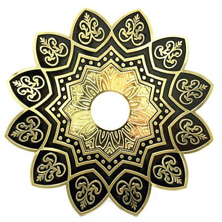Prato EBS Hookah One M 22cm - Dourado Velho/Dourado