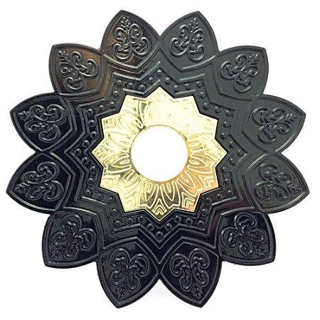 Prato EBS Hookah One P 18cm - Preto/Dourado