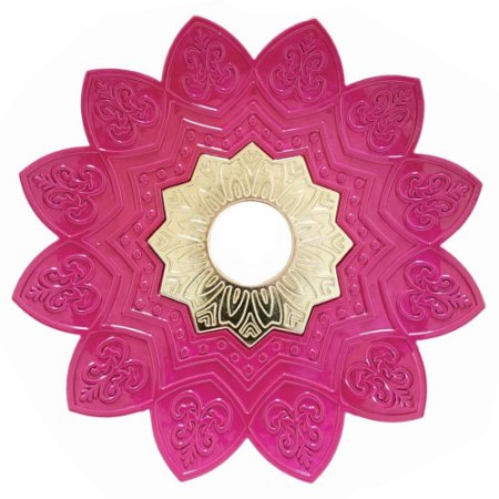 Prato EBS Hookah One P 18cm - Rosa/Dourado