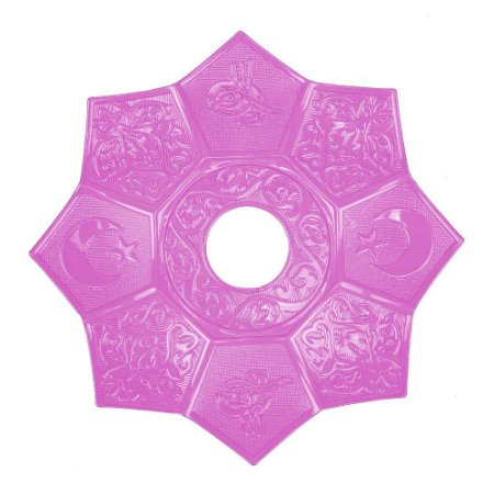 Prato EBS Hookah Zamac Lotus M 22cm - Rosa/Rosa