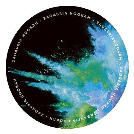 Tapete Zagabria Hookah Smoke - Azul e Verde