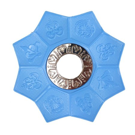Prato EBS Hookah New Lotus P 18cm - Azul/Dourado