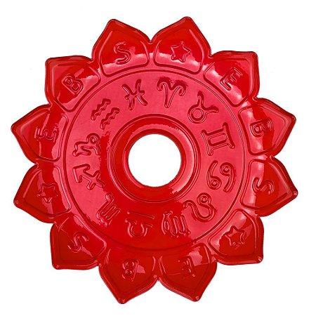 Prato EBS Hookah Signum M 22cm - Vermelho