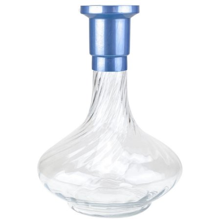 Vaso ZH Genie 30cm Rigado - Azul Claro/Clear