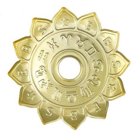 Prato EBS Hookah Signum M 22cm - Dourado