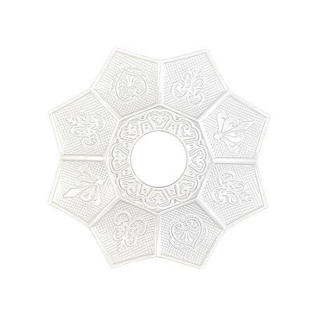 Prato EBS Hookah New Lotus Mini 16cm - Branco