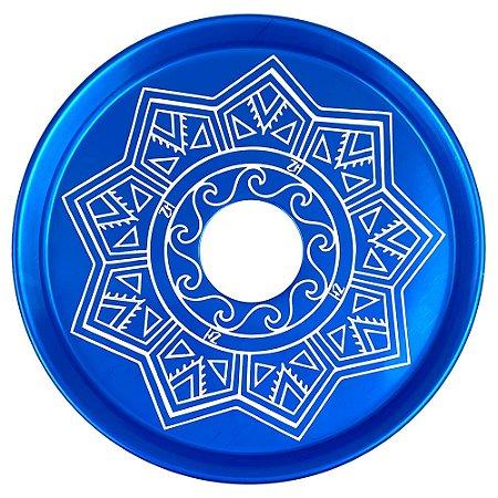 Prato ZH Tribal Médio 19cm - Azul Escuro