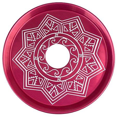 Prato ZH Tribal Médio 19cm - Vermelho